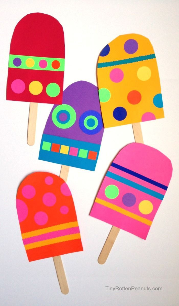 Best ideas about Easy Summer Crafts For Preschoolers . Save or Pin Giant Paper Popsicle Craft Now.