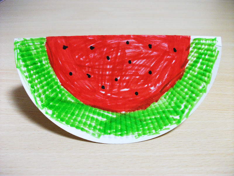 Best ideas about Easy Summer Crafts For Preschoolers . Save or Pin Summer Watermelon Paper Plate Craft Now.