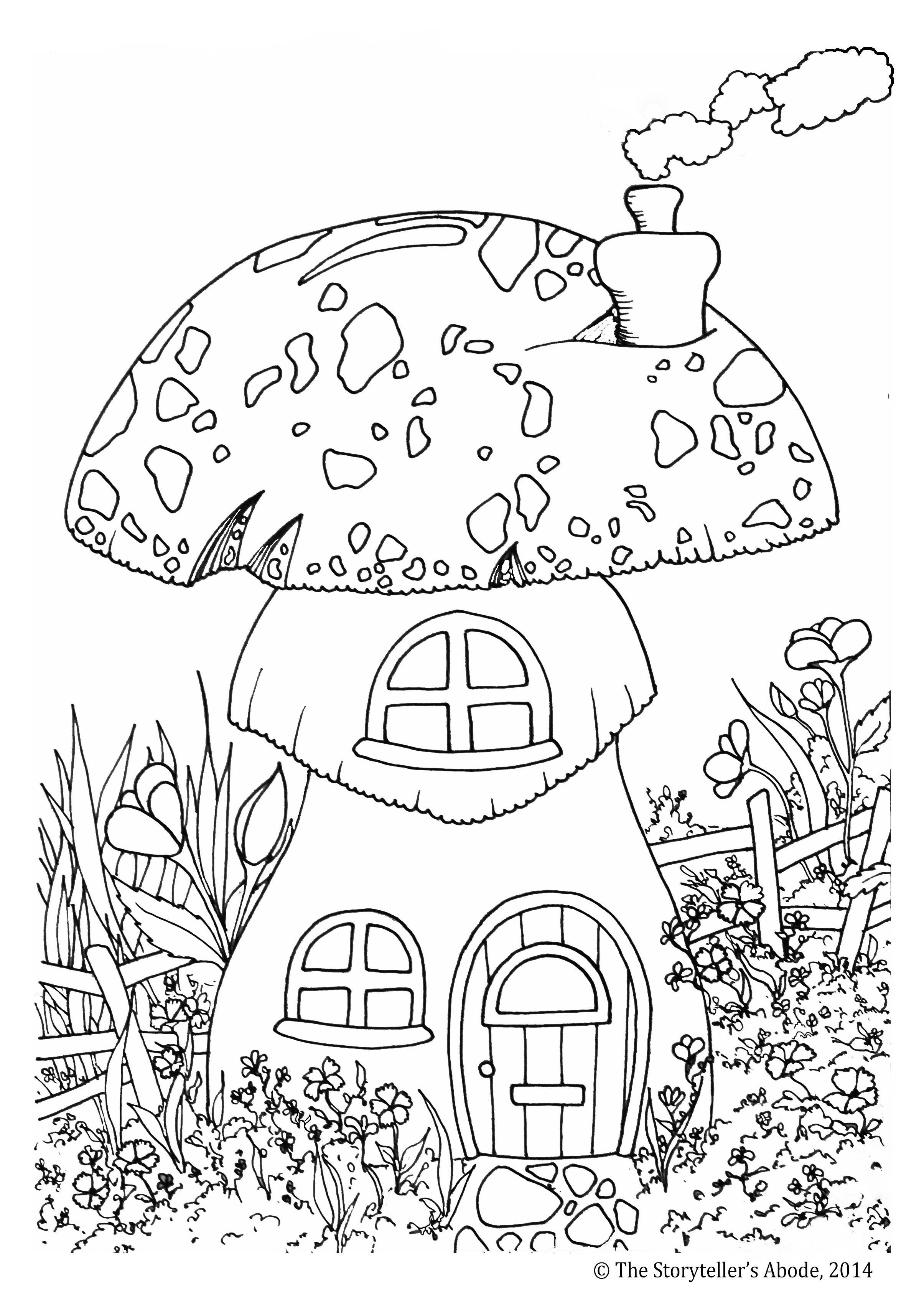 Best ideas about Enchanted Forest Coloring Sheets For Kids . Save or Pin Toadstool House Colouring Picture – An Enchanted Place Now.