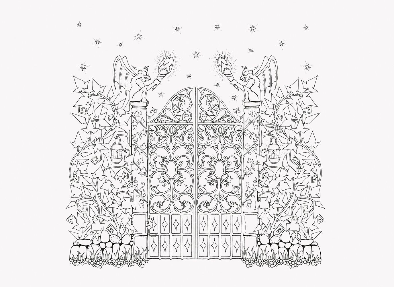 Best ideas about Enchanted Forest Coloring Sheets For Kids . Save or Pin Amazon Prime Now Enchanted Forest Postcards 20 Postcards Now.