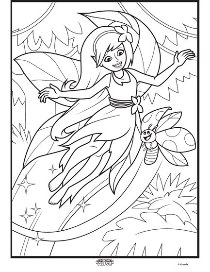 Best ideas about Enchanted Forest Coloring Sheets For Kids . Save or Pin Color Alive Enchanted Forest Fairy Coloring Page Now.