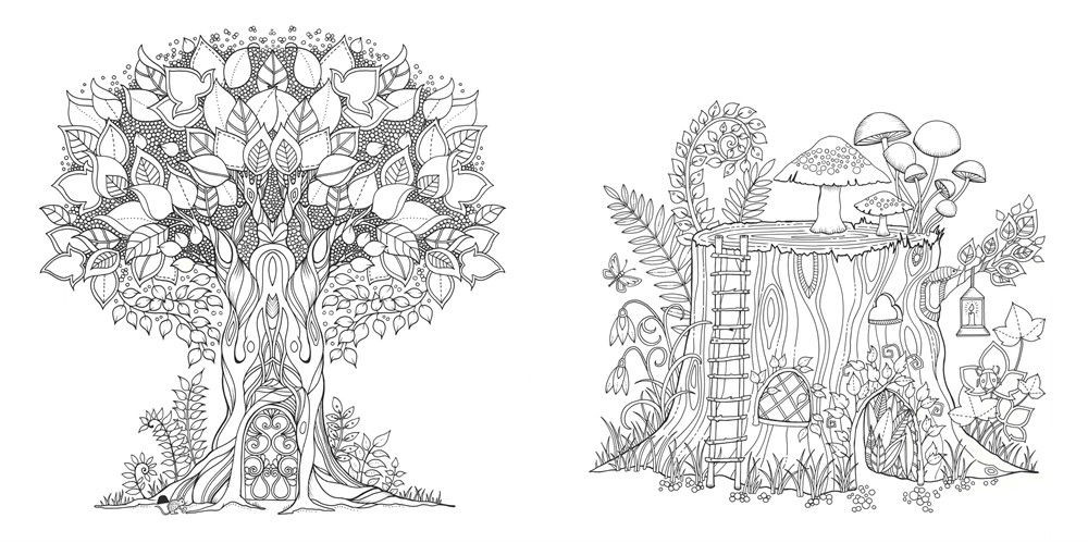 Best ideas about Enchanted Forest Coloring Sheets For Kids . Save or Pin Enchanted Forest An Inky Quest & Coloring Book Building Now.