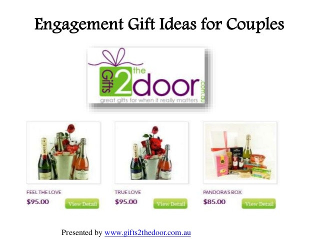 Best ideas about Engagement Gift Ideas For Couple . Save or Pin Engagement Gift Ideas for Couples at Gifts2thedoor Now.