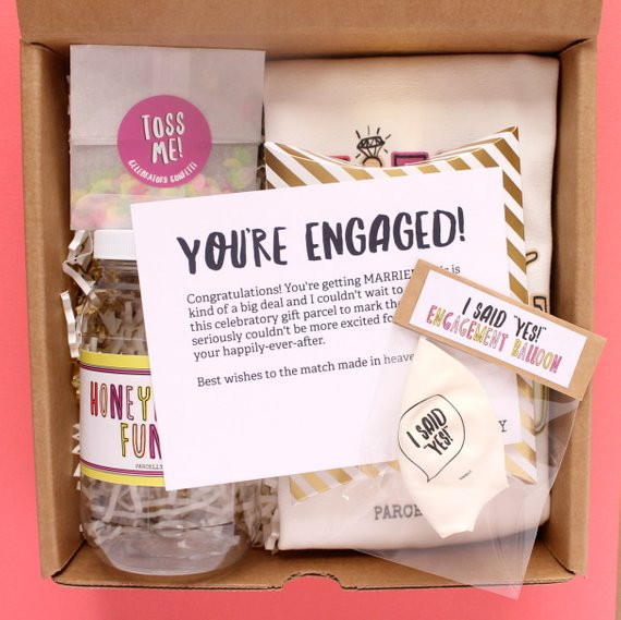 Best ideas about Engagement Gift Ideas For Couple . Save or Pin Engagement Gift for Couple Engagement Gift Basket Engagement Now.