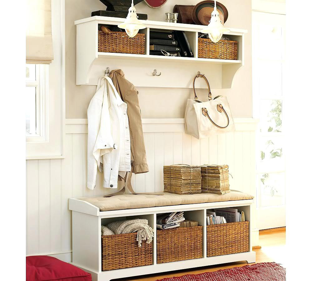 Best ideas about Entryway Bench With Hooks . Save or Pin White Small Entryway Coat Rack With Bench — STABBEDINBACK Now.