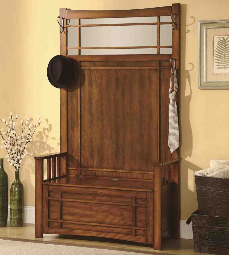 Best ideas about Entryway Bench With Hooks . Save or Pin Entryway Benches with Storage and Coat Rack Home Now.
