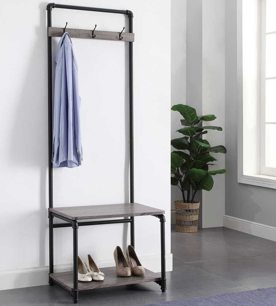 Best ideas about Entryway Bench With Hooks . Save or Pin Pipe Style Foyer Bench and Coat Rack in Entryway Storage Now.