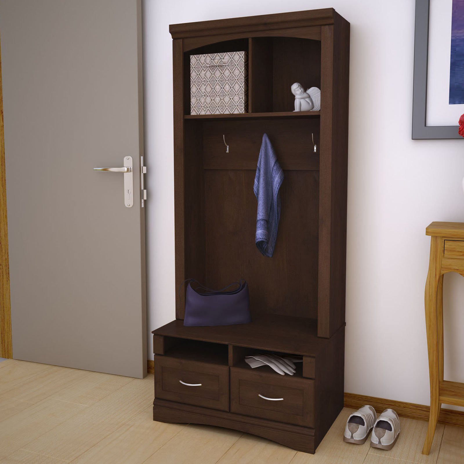 Best ideas about Entryway Bench With Hooks . Save or Pin Entryway Bench With Storage And Hooks High — STABBEDINBACK Now.