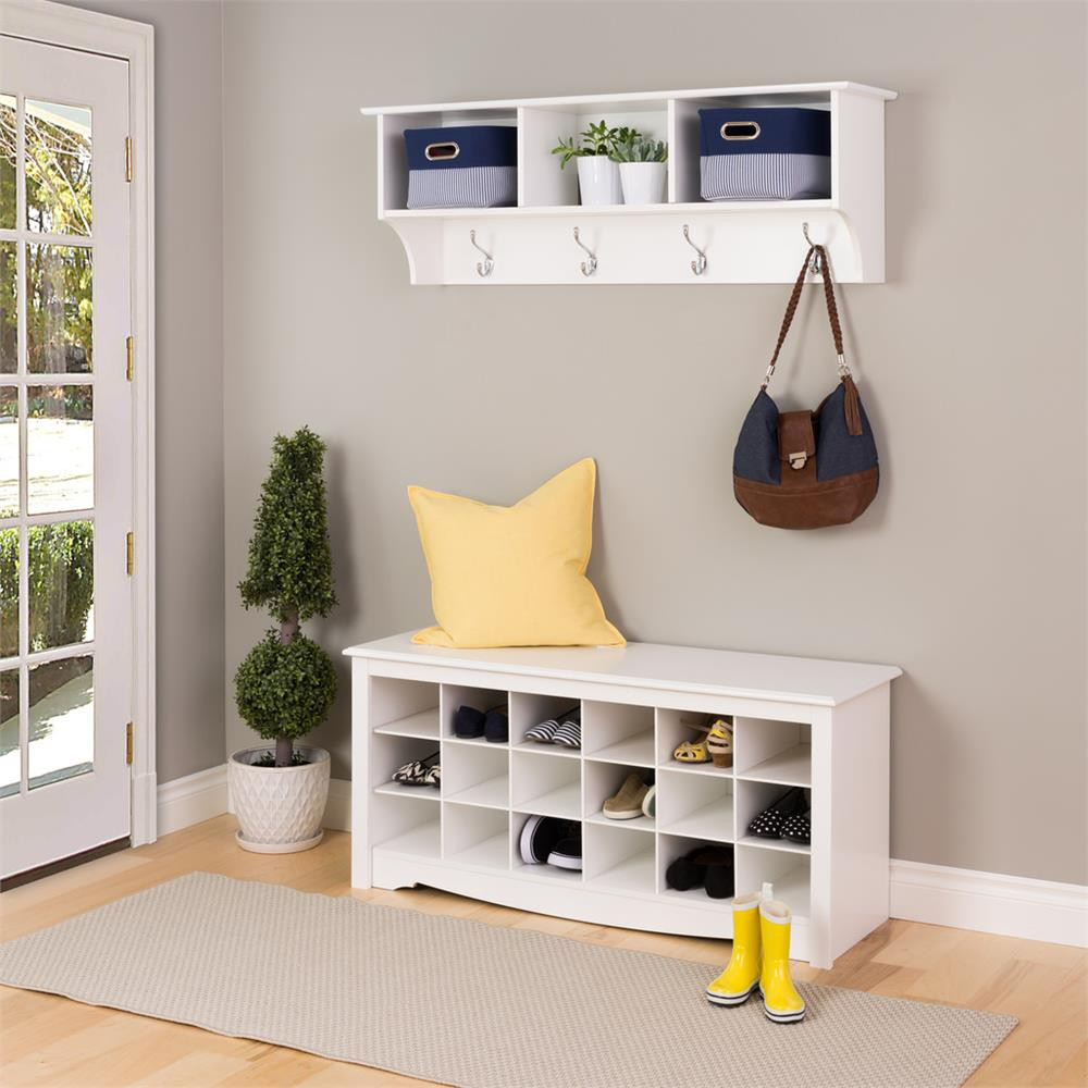 Best ideas about Entryway Bench With Hooks . Save or Pin Entryway Bench With Storage And Hooks Modern — Home Design Now.