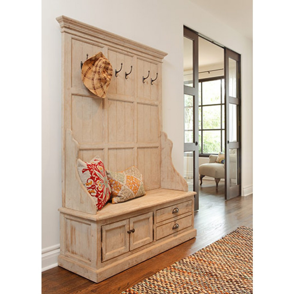Best ideas about Entryway Bench With Hooks . Save or Pin Ideas Entryway Coat Rack With Bench — Home Design Great Now.
