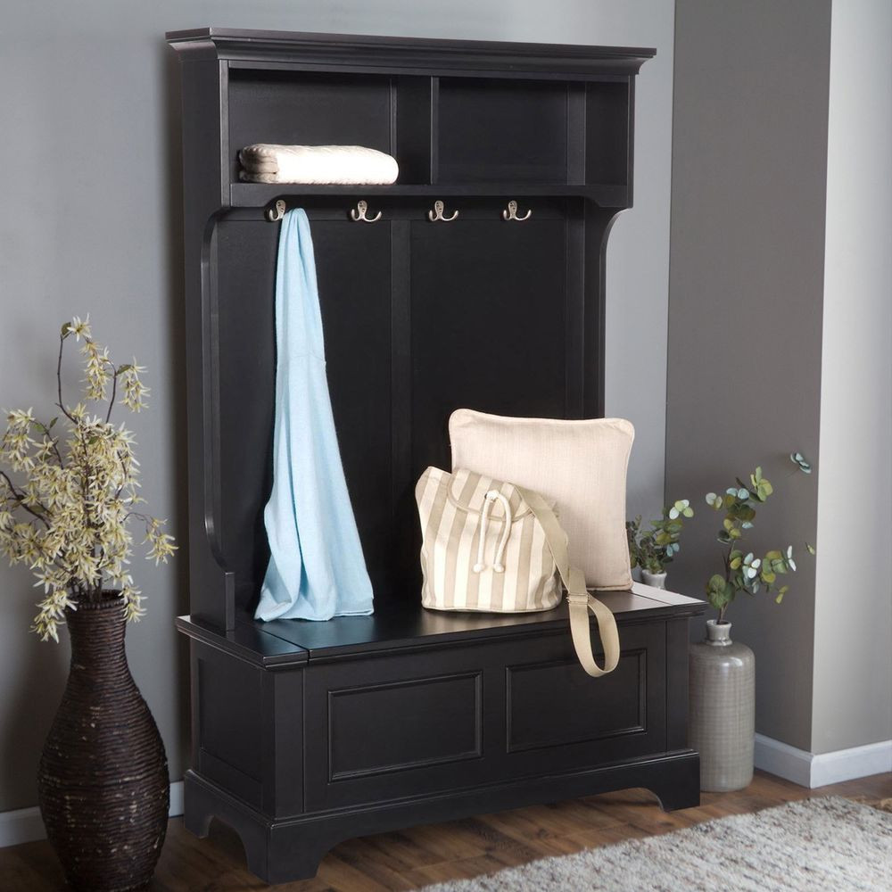 Best ideas about Entryway Bench With Hooks . Save or Pin Entryway Storage Bench With Coat Rack Now.