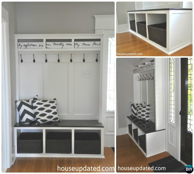 Best ideas about Entryway Bench With Hooks . Save or Pin 20 Best Entryway Bench DIY Ideas Projects [Picture Now.