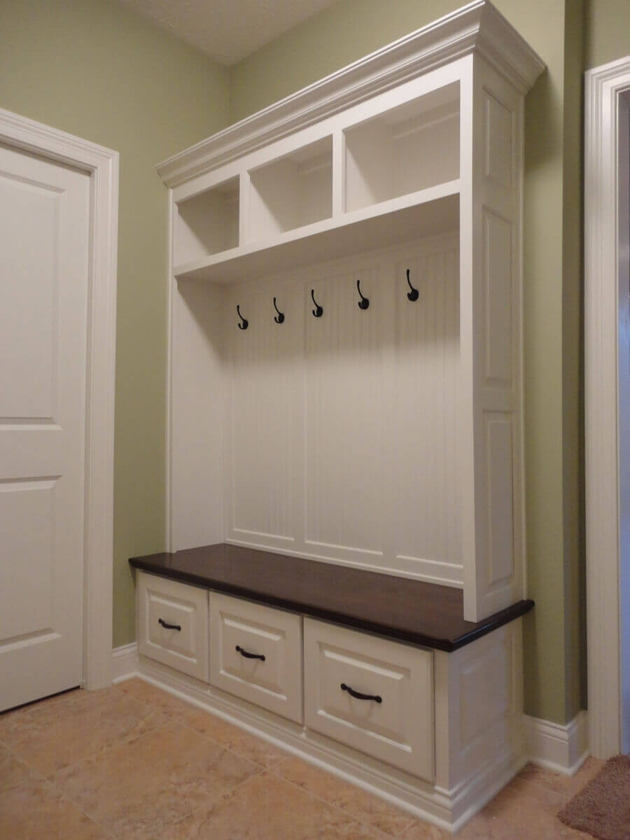 Best ideas about Entryway Bench With Hooks . Save or Pin 45 Superb Mudroom & Entryway Design Ideas with Benches Now.