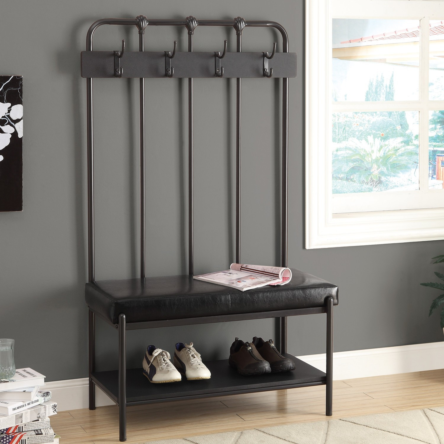 Best ideas about Entryway Bench With Hooks . Save or Pin Entryway Shoe Bench And Hooks — Home Design Bring a New Now.