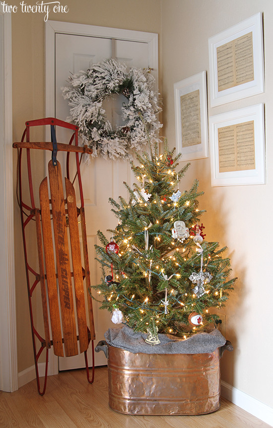 Best ideas about Entryway Christmas Tree . Save or Pin Our Christmas Entryway Now.