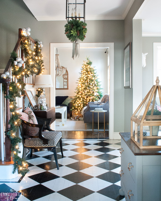 Best ideas about Entryway Christmas Tree . Save or Pin Christmas Entryway All Through the House Tour The Now.