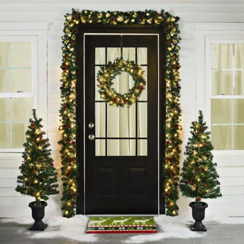 Best ideas about Entryway Christmas Tree . Save or Pin Pre Lit Entryway Christmas Scene 6 Piece Now.