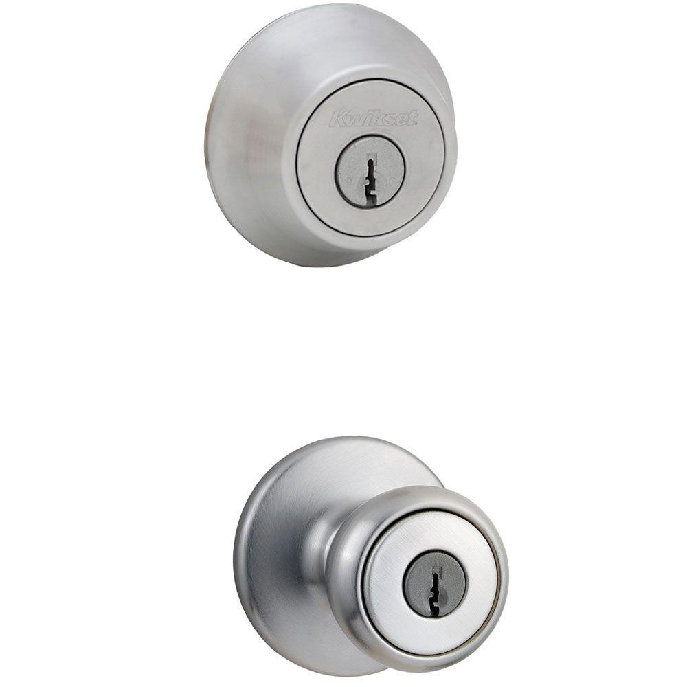 Best ideas about Entryway Door Knobs . Save or Pin Kwikset Tylo Satin Chrome Entry Knob and Single Cylinder Now.