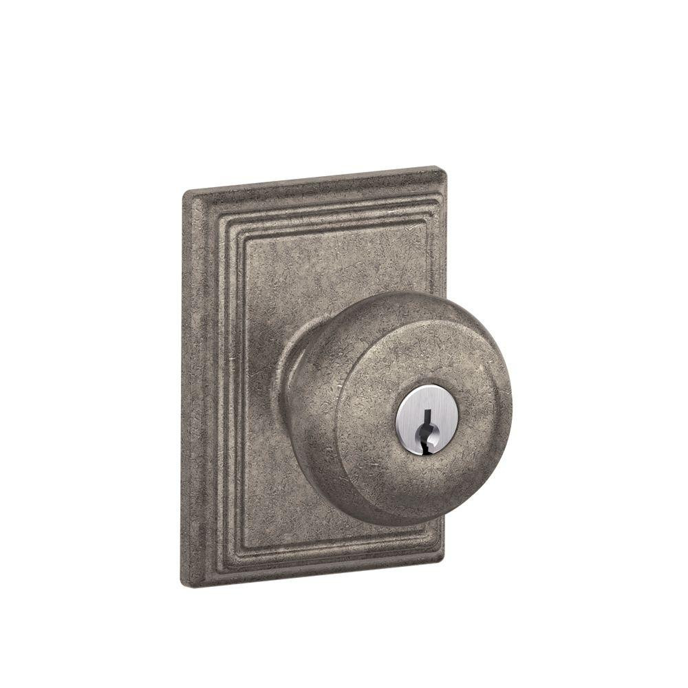 Best ideas about Entryway Door Knobs . Save or Pin Schlage Addison Collection Distressed Nickel Georgian Now.