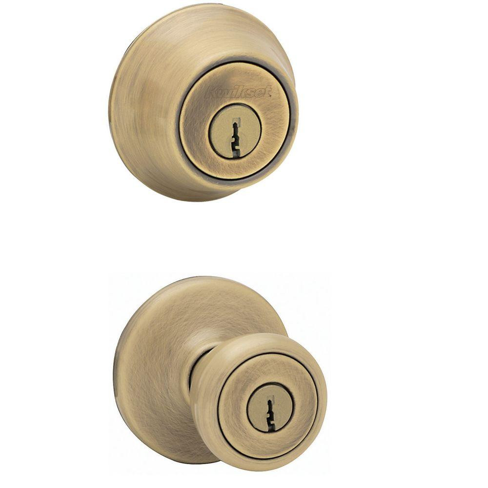 Best ideas about Entryway Door Knobs . Save or Pin Kwikset Tylo Antique Brass Entry Door Knob and Single Now.
