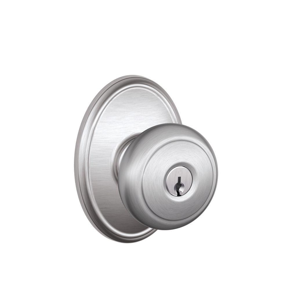 Best ideas about Entryway Door Knobs . Save or Pin Schlage Andover Satin Chrome Entry Door Knob with Now.