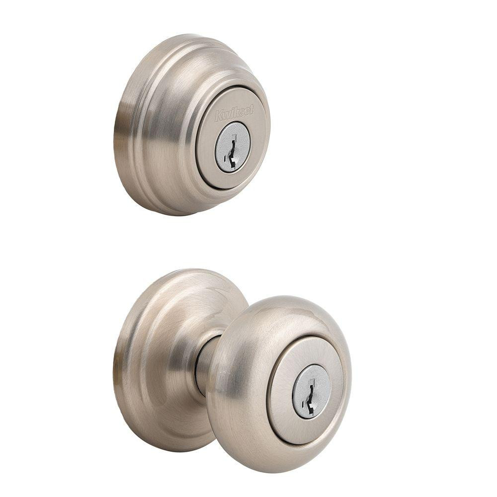 Best ideas about Entryway Door Knobs . Save or Pin Kwikset Juno Satin Nickel Exterior Entry Door Knob and Now.