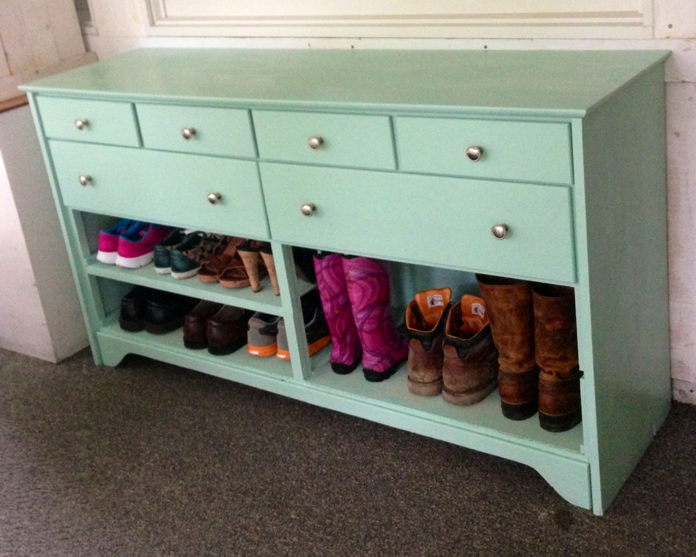 Best ideas about Entryway Shoe Rack . Save or Pin Painted Entryway Shoe Rack — STABBEDINBACK Foyer Now.
