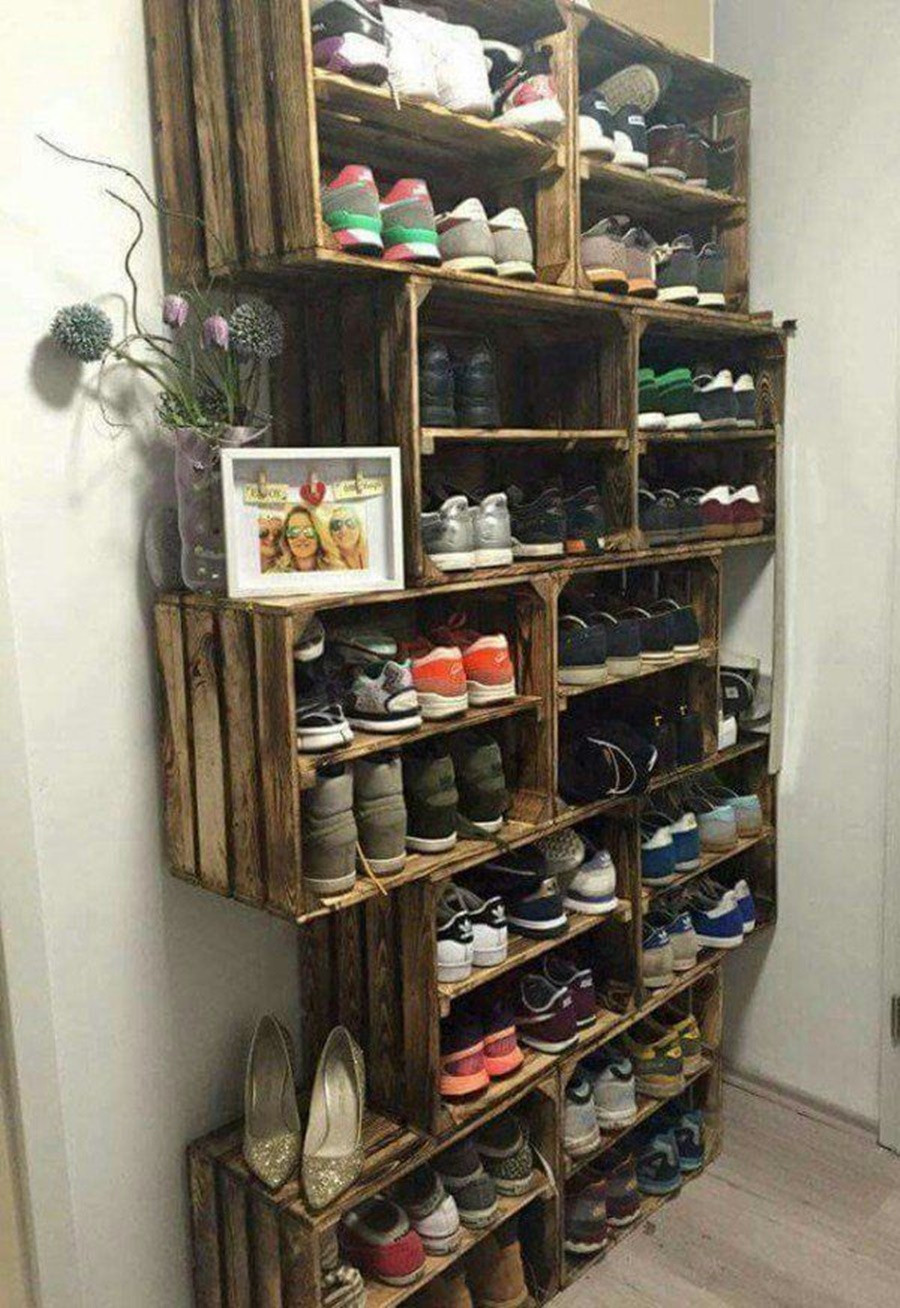 Best ideas about Entryway Shoe Rack . Save or Pin Tall Shoe Rack For Entryway — STABBEDINBACK Foyer Wooden Now.