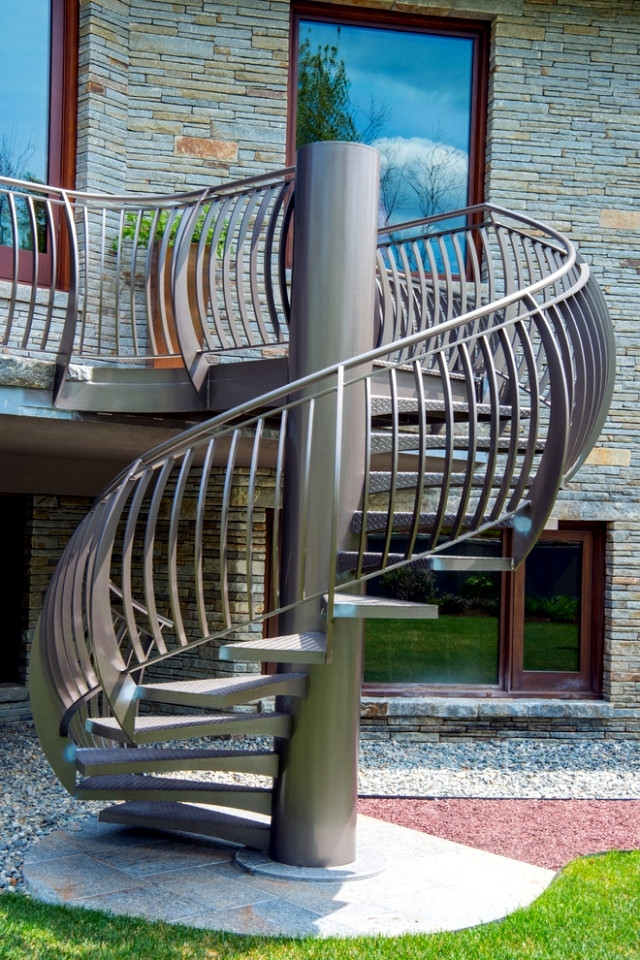 Best ideas about Exterior Spiral Staircase . Save or Pin The modern steel staircase inside and outside for amazing Now.