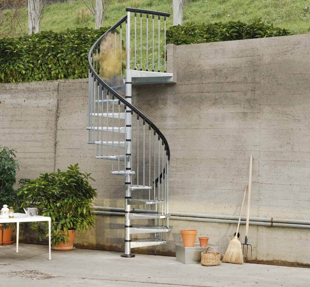 Best ideas about Exterior Spiral Staircase . Save or Pin Metal Outdoor Spiral Staircase Now.