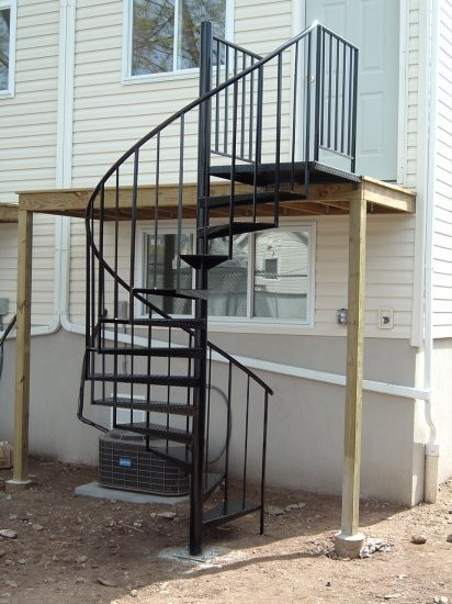 Best ideas about Exterior Spiral Staircase . Save or Pin exterior spiral staircase – Staircase design Now.