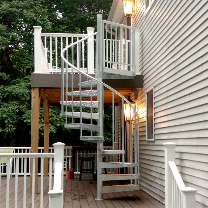 Best ideas about Exterior Spiral Staircase . Save or Pin Galvanized Spiral Staircases Weatherproof Stairs Now.