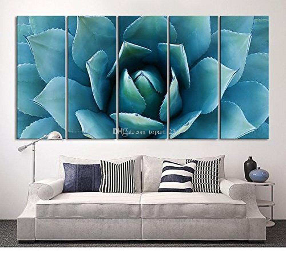 Best ideas about Extra Large Wall Art . Save or Pin 2018 Wall Art Blue Agave Canvas Prints Agave Flower Now.