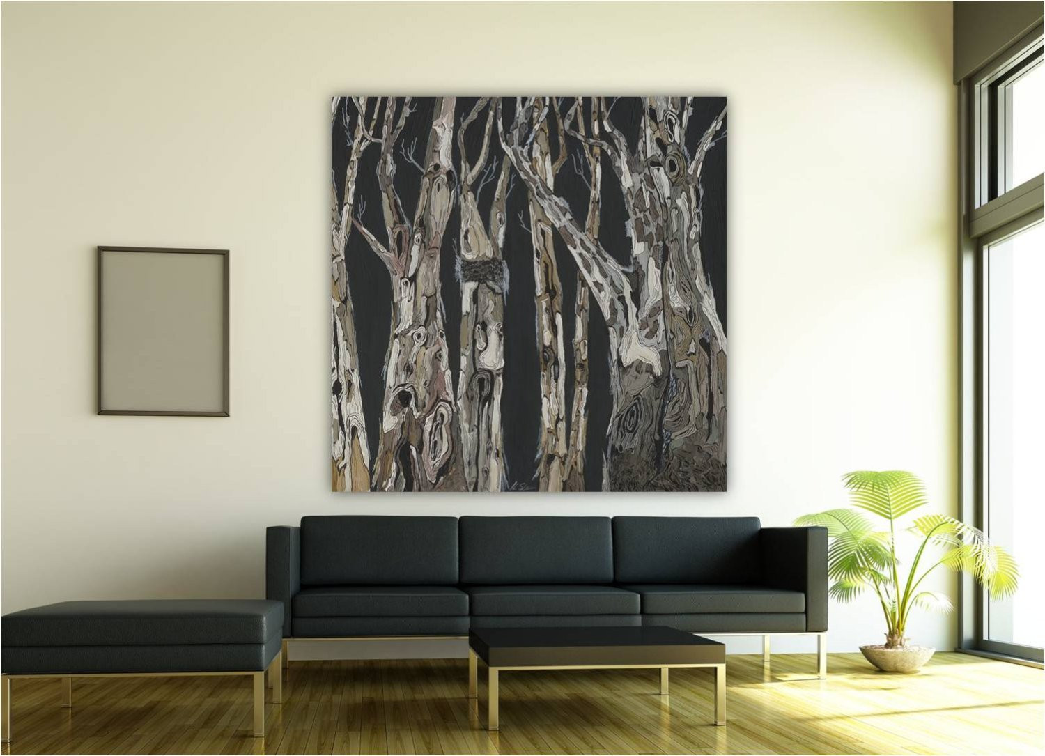 Best ideas about Extra Large Wall Art . Save or Pin Wall Art extra large modern artwork dining room tree art black Now.