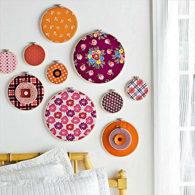 Best ideas about Fabric Wall Art . Save or Pin 13 DIY Fabric Scrap Ideas Now.