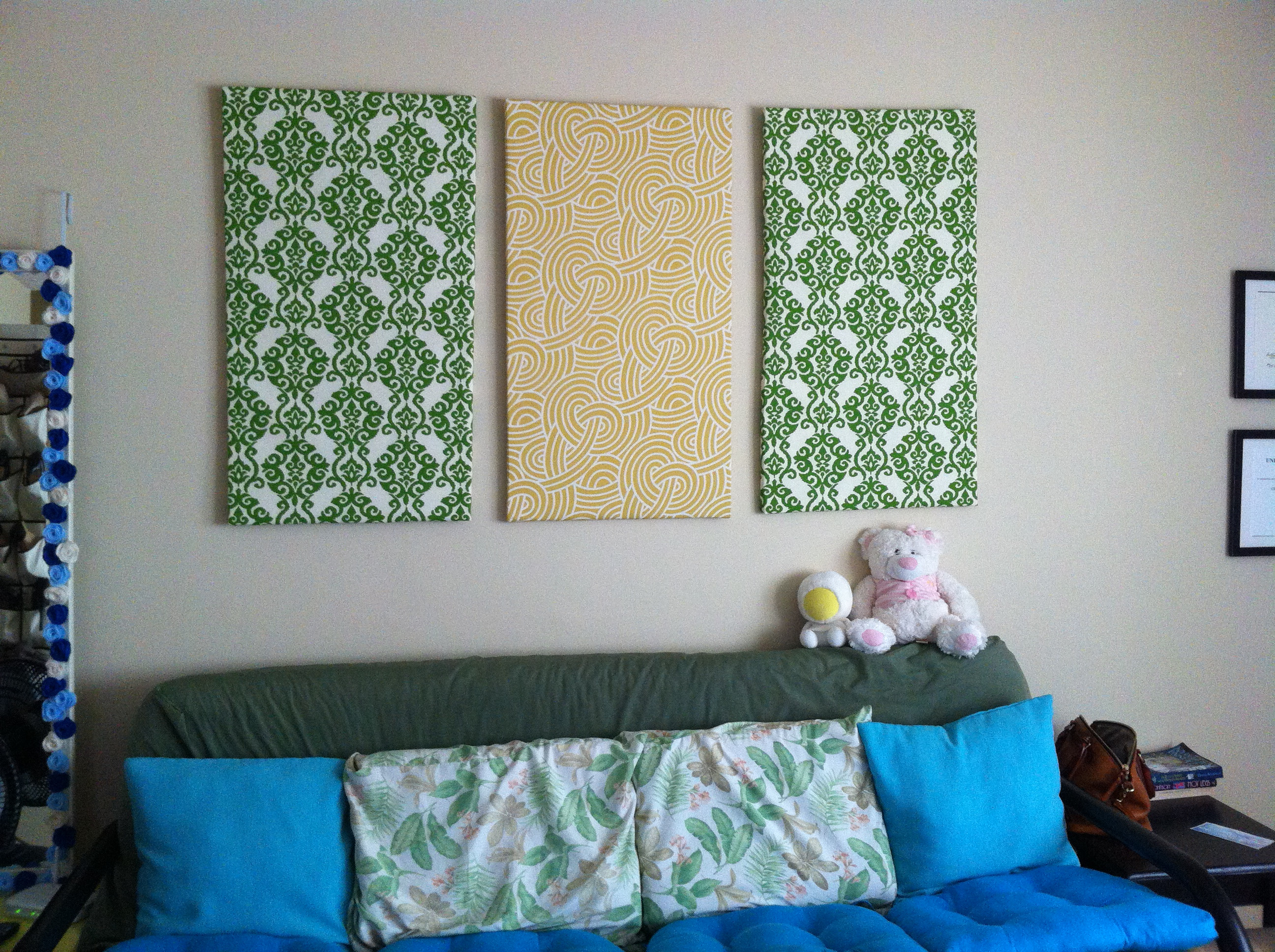 Best ideas about Fabric Wall Art . Save or Pin DIY Fabric Wall Art Now.