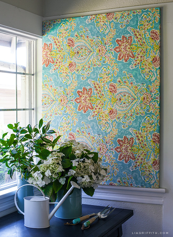 Best ideas about Fabric Wall Art . Save or Pin Make Easy DIY Art with a Canvas Stretcher Frame and Pretty Now.