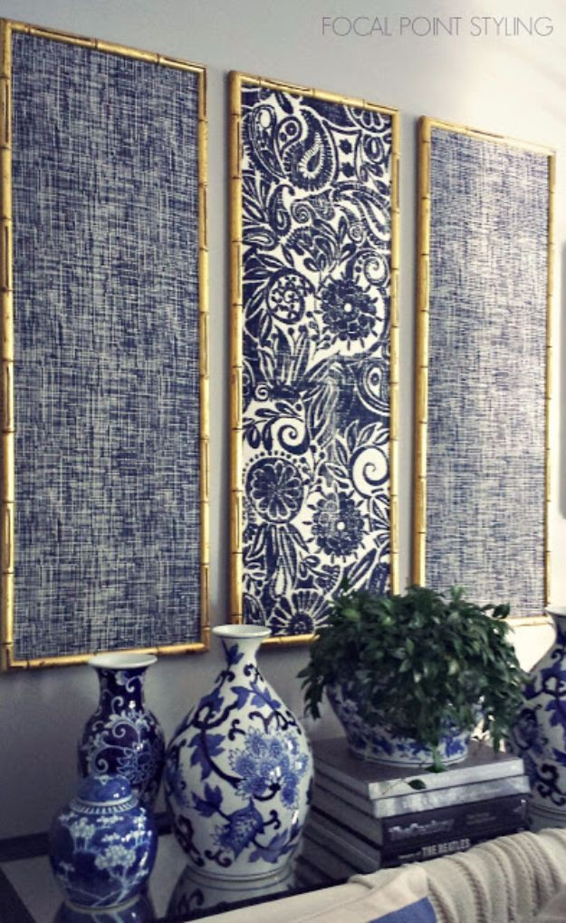 Best ideas about Fabric Wall Art . Save or Pin 76 Brilliant DIY Wall Art Ideas for Your Blank Walls Now.