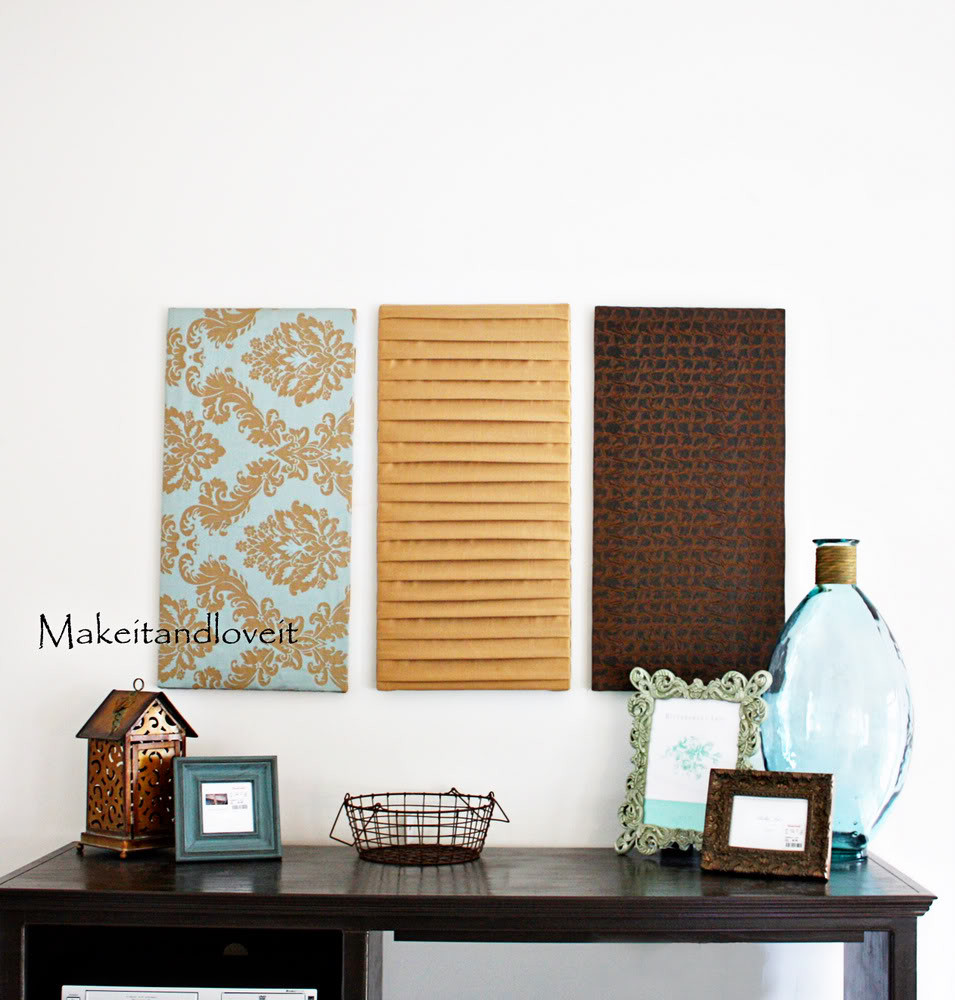 Best ideas about Fabric Wall Art . Save or Pin How to Fabric panel wall art… Now.