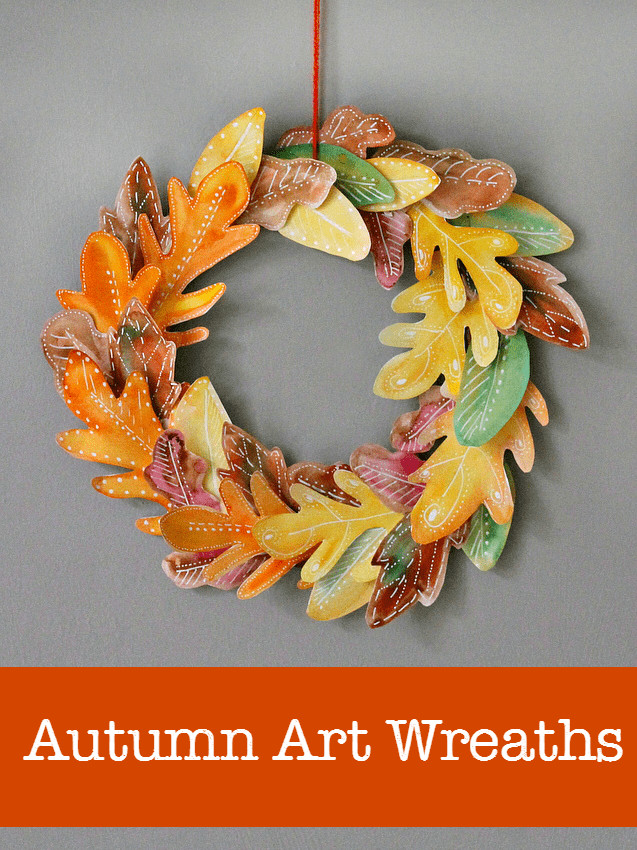 Best ideas about Fall Art Project For Kids . Save or Pin 10 beautiful homemade fall wreath art projects NurtureStore Now.