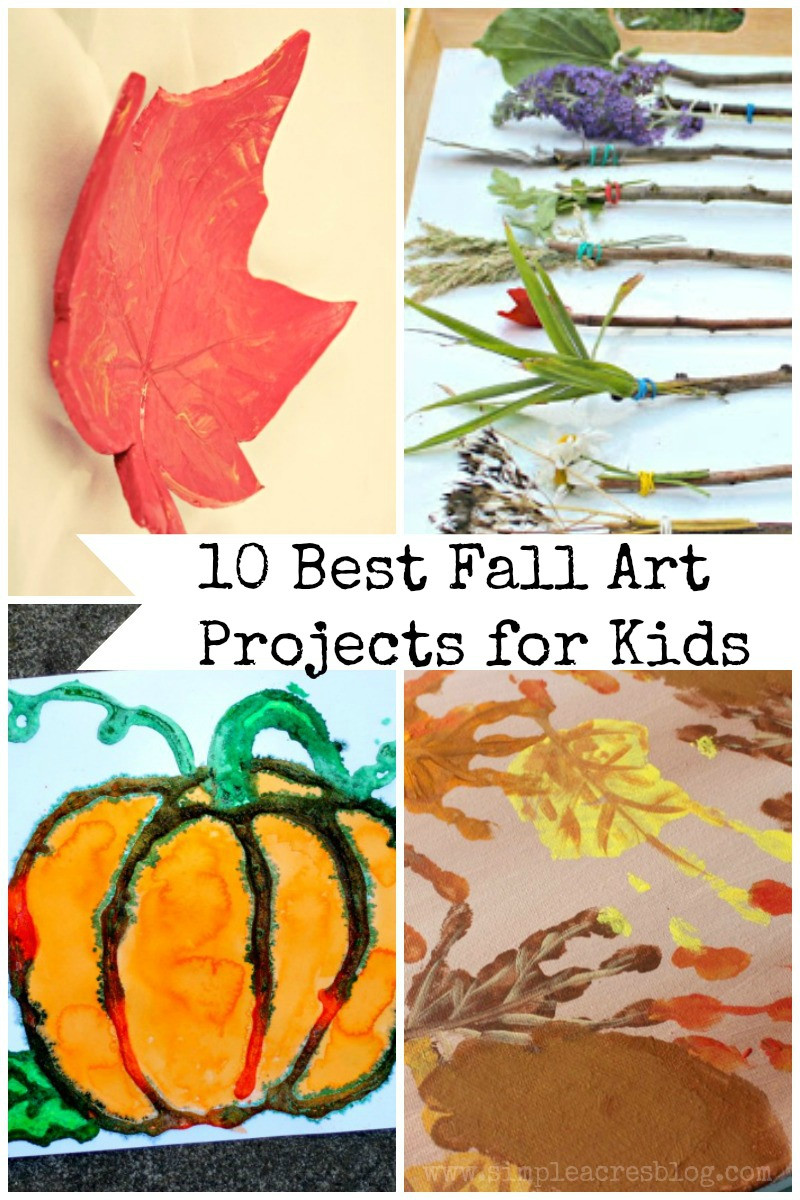 Best ideas about Fall Art Project For Kids . Save or Pin 10 Best Fall Art Projects for Kids Simple Acres Blog Now.