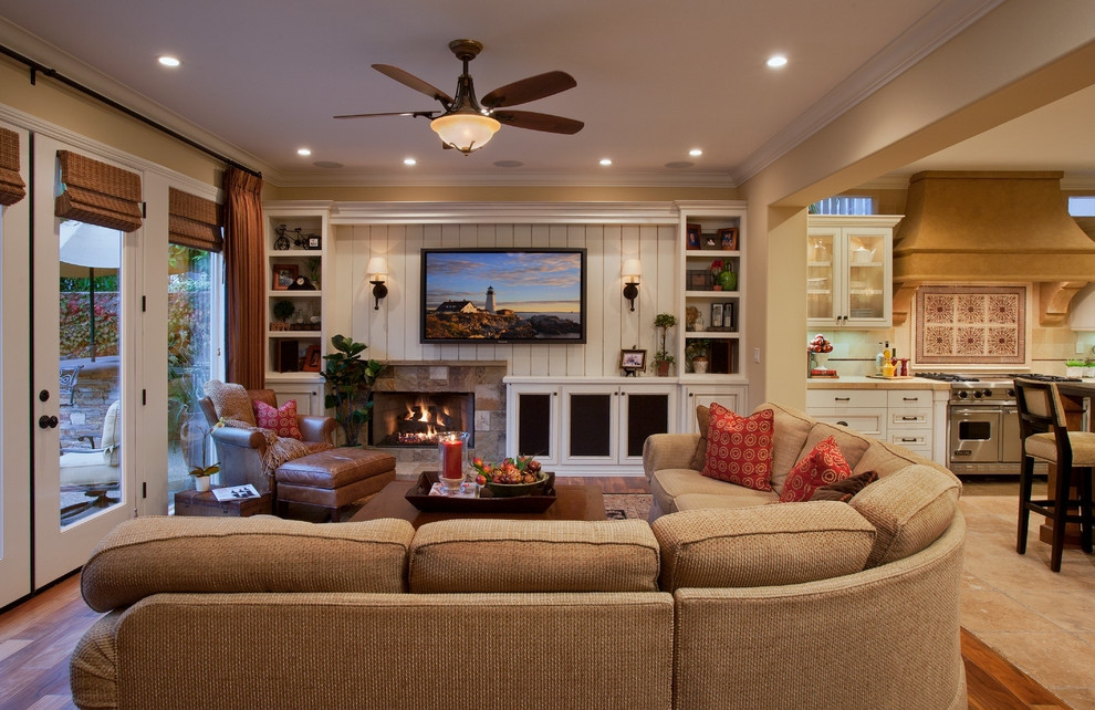 Best ideas about Family Room Designs . Save or Pin Traditional Family Room Decorating Ideas With Fireplace Now.