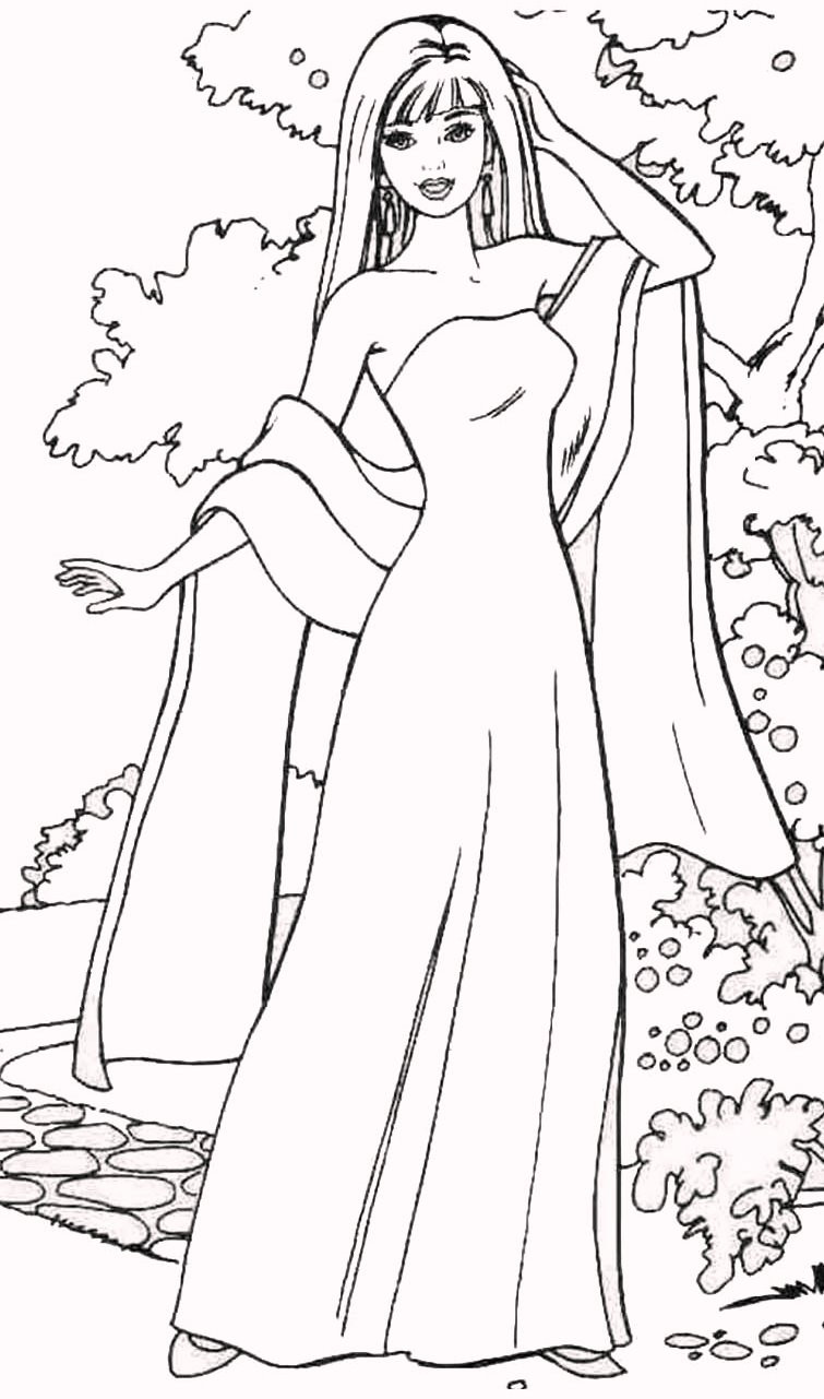 Best ideas about Fashion Coloring Pages For Girls . Save or Pin barbie fashion coloring pages Now.
