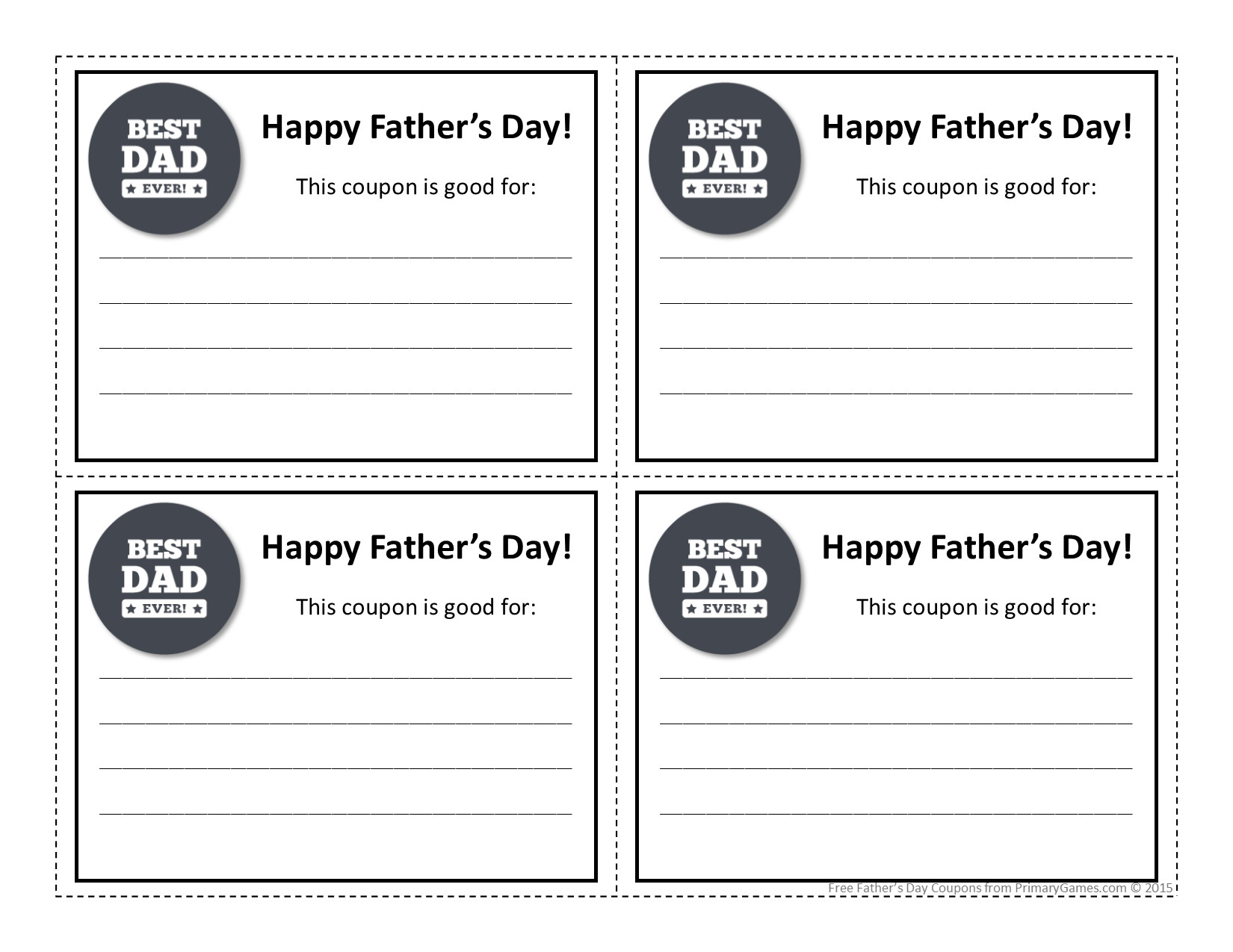 Best ideas about Father'S Day Coupon Book Printable Coloring Pages . Save or Pin Father s Day Crafts Father s Day Coupon Book Part 2 Now.