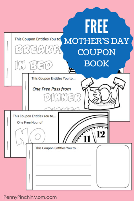Best ideas about Father'S Day Coupon Book Printable Coloring Pages . Save or Pin Free Printable Mother s Day Coupon Booklet Now.