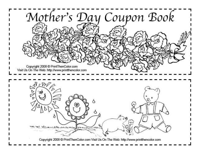 Best ideas about Father'S Day Coupon Book Printable Coloring Pages . Save or Pin Top 5 Best Mother s Day Free Printables Cards & DIY Ideas Now.