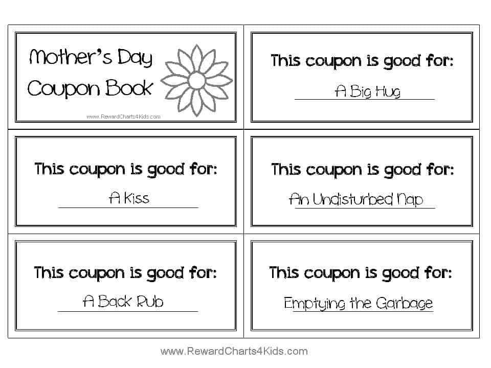 Best ideas about Father'S Day Coupon Book Printable Coloring Pages . Save or Pin Free Coupon Book for Mom Now.