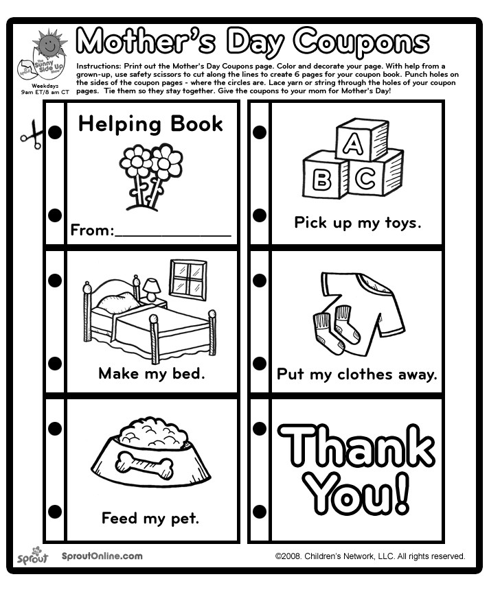 Best ideas about Father'S Day Coupon Book Printable Coloring Pages . Save or Pin Mother s Day Coloring Pages Coupons and Activities Let Now.