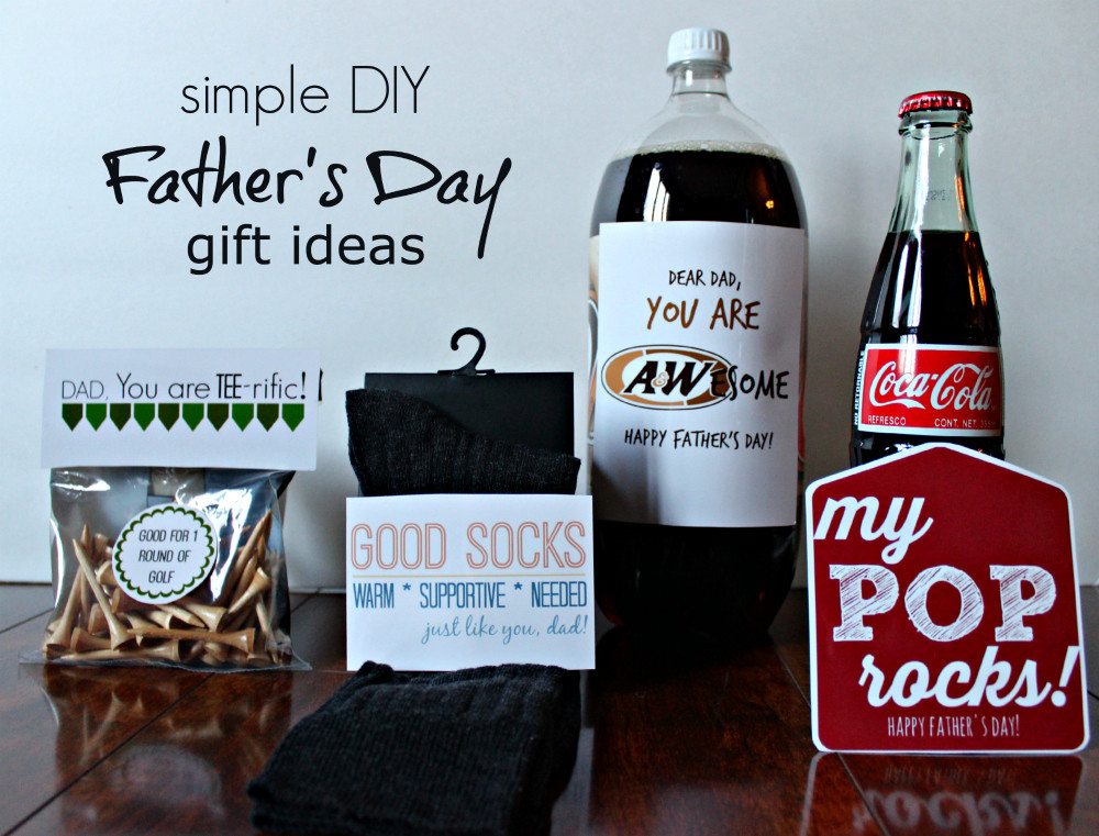 Best ideas about Fathers Day DIY Gifts . Save or Pin Simple DIY Father's Day Gift Ideas with Free Printable Now.