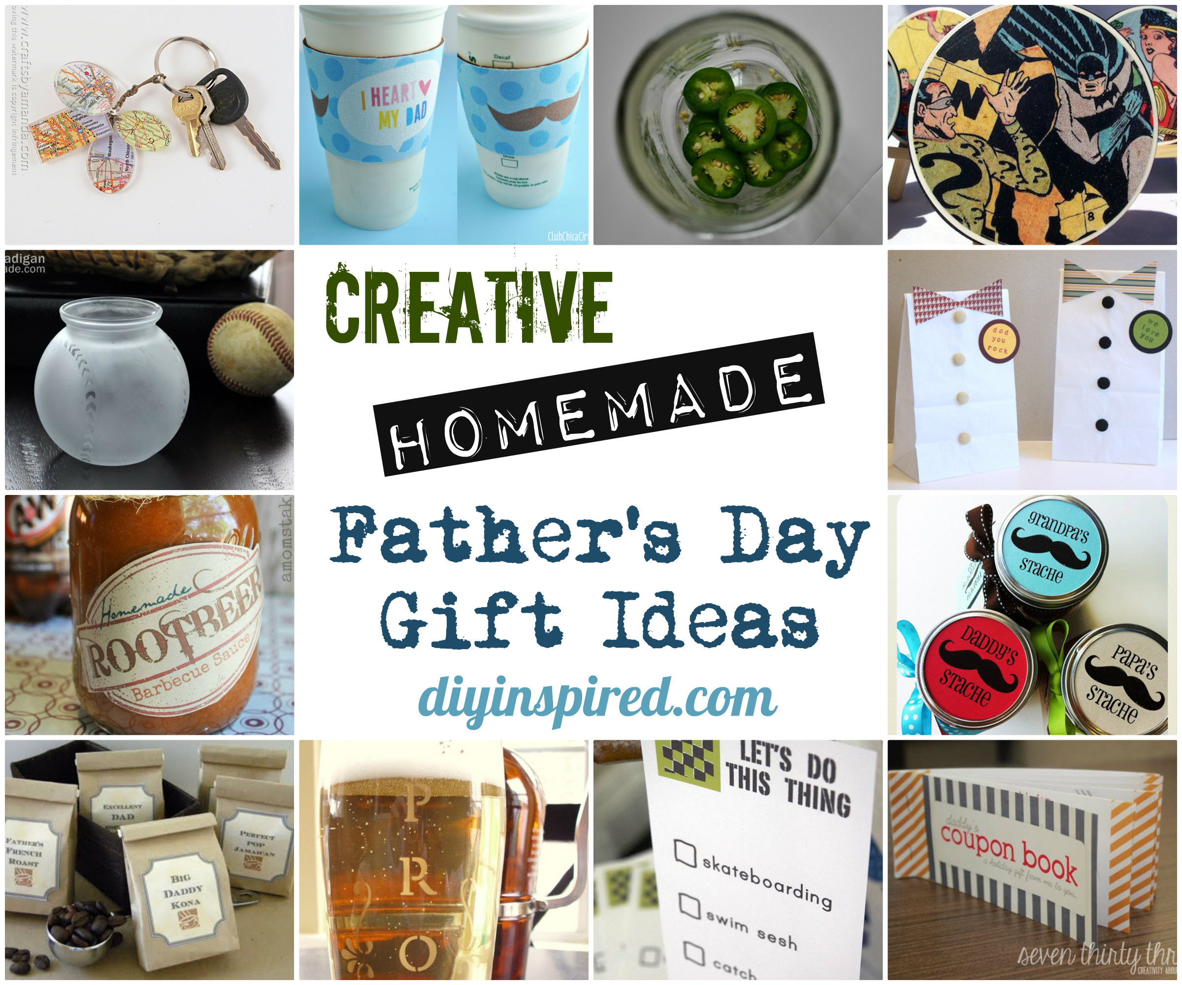 Best ideas about Fathers Day DIY Gifts . Save or Pin Creative Homemade Father's Day Gift Ideas DIY Inspired Now.